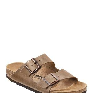 NIB Birkenstock Arizona Leather Sandal Brown